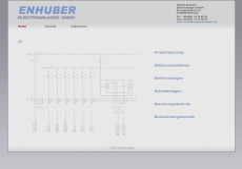 Screenshot der Domain enhuber-elektroanlagen.de