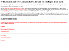 Screenshot der Domain enhydralutris.de