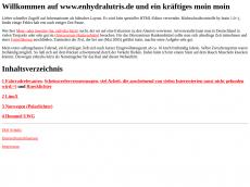 Screenshot von enhydralutris.de