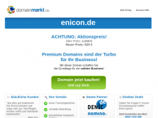 Screenshot der Domain enicon.de