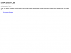 Screenshot der Domain freewaretest.de