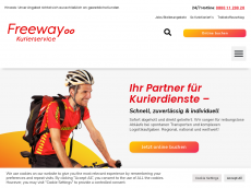 Screenshot der Domain freeway-kurier.de