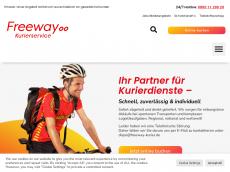 Screenshot von freeway-kurierservice.de