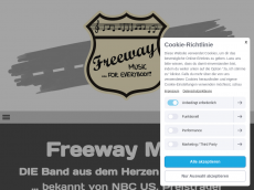 Screenshot der Domain freeway-music.de