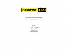 Screenshot der Domain freeway-taxi.de