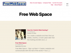 Screenshot der Domain freewebspace.com