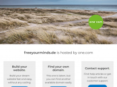 Screenshot der Domain freeyourminds.de