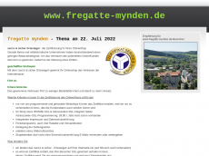 Screenshot der Domain fregatte-mynden.de