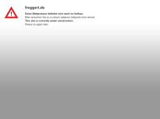 Screenshot der Domain freggert.de