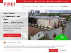 Screenshot von frei-containerdienst.de