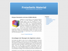Screenshot der Domain freiarbeit-material.de