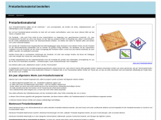 Screenshot der Domain freiarbeits-material.de