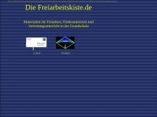 Screenshot der Domain freiarbeitskiste.de