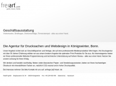 Screenshot der Domain freiart.de