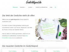 Screenshot der Domain gedichtepool.de