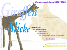 Screenshot der Domain giraffenatelier.de