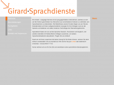 Screenshot der Domain girard-sprachdienste.de