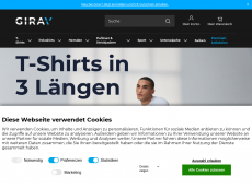 Screenshot der Domain girav.de