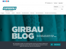 Screenshot der Domain girbau.de