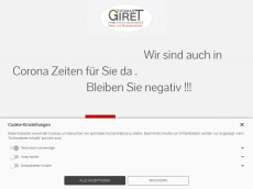 Screenshot der Domain giret.de