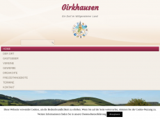 Screenshot der Domain girkhausen.com
