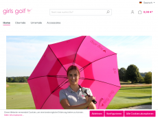 Screenshot der Domain girlsgolf.de