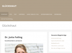 Screenshot der Domain glueckshaut.de