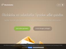 Screenshot der Domain glueckskekse-gestalten.de