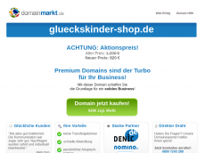 Screenshot der Domain glueckskinder-shop.de