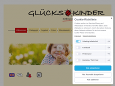 Screenshot der Domain glueckskinder.de