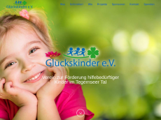 Screenshot der Domain glueckskinder.org