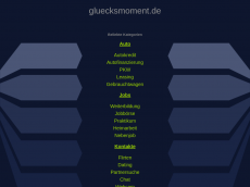 Screenshot der Domain gluecksmoment.de
