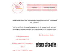 Screenshot der Domain gluecksmomente-ffb.de