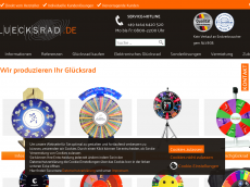 Screenshot der Domain gluecksrad-shop.de