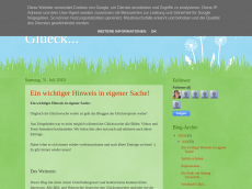 Screenshot der Domain gluecksreporter.blogspot.com