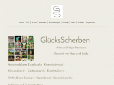 Screenshot der Domain gluecksscherben.de
