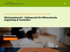 Screenshot der Domain gluecksspielsucht-nrw.de