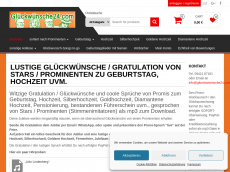 Screenshot der Domain glueckwuensche24.com