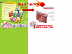 Screenshot der Domain gluedots.de