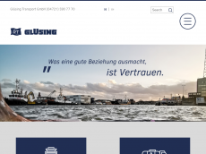 Screenshot der Domain gluesing-transport.de