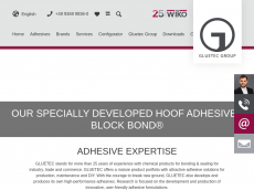 Screenshot der Domain gluetec-industrieklebstoffe.de