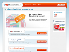Screenshot der Domain gluexschachtel.de