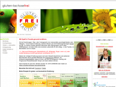 Screenshot der Domain gluten-lactosefrei.de