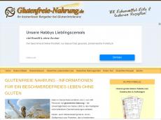 Screenshot von glutenfreie-nahrung.de