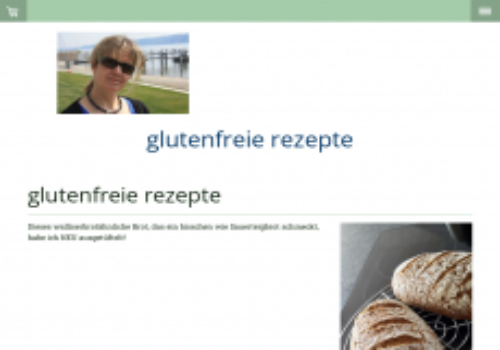 Screenshot der Domain glutenfreie-rezepte.org