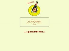 Screenshot der Domain glutenfreies-bier.de