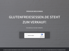 Screenshot der Domain glutenfreiesessen.de