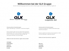 Screenshot von glx-logistics.de