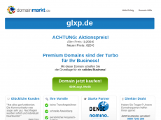 Screenshot der Domain glxp.de