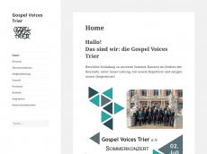 Screenshot der Domain gospelvoices-trier.de